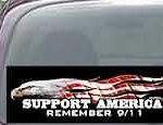 CNF169 Support America Remember 9/11 Patriotic American Flag Decal