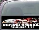 CNF170 Defend America Remember 9/11 Patriotic American Flag Decal
