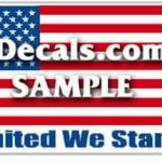 CNF207 American Flag United We Stand Decal