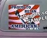 CNF210 American Flag Proud To Be Decal