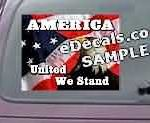 CNF215 American Flag Eagle United We Stand Decal