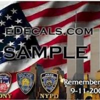 CNF216 WTC Memorial FDNY NYPD Decal