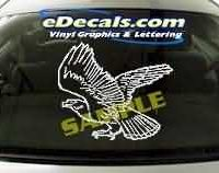 CRT101 Eagle Cartoon Decal