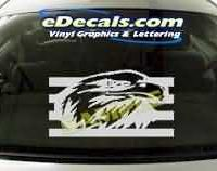 CRT105 Eagle Cartoon Decal