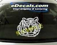 CRT115 Tiger Cartoon Decal