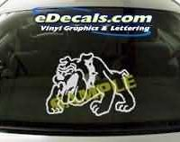 CRT116 Bulldog Cartoon Decal