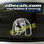 CRT118 Dog Cartoon Decal