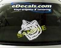 CRT121 Wolf Cartoon Decal
