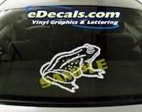 CRT124 Frog Cartoon Decal