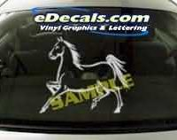 CRT132 Horse Cartoon Decal