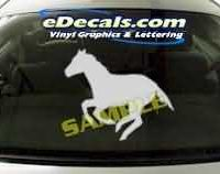 CRT133 Horse Cartoon Decal