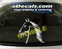 CRT134 Horse Cartoon Decal