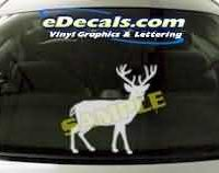 CRT135 Elk Cartoon Decal
