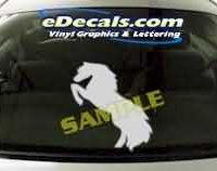 CRT136 Horse Cartoon Decal