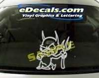 CRT141 Skull Devil Cartoon Decal