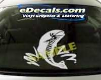 CRT142 Fish Cartoon Decal