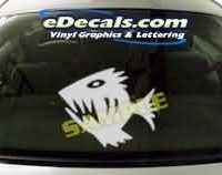 CRT144 Fish Cartoon Decal