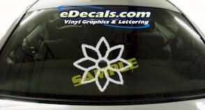 CRT171 Flower Tree Cartoon Decal