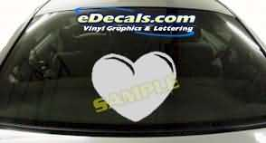 CRT172 Heart Cartoon Decal