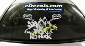CRT188 Chick Puss Cartoon Decal
