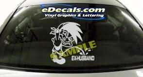 CRT203 F You Ex Husband Cartoon Decal