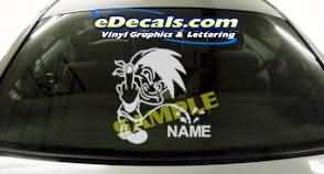 CRT205 F You Add Your Name Cartoon Decal