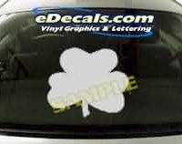 CRT215 Four Leaf Clover Cartoon Decal