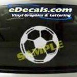 CRT226 Soccer Ball Cartoon Decal