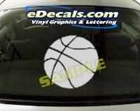 CRT227 Basketball Cartoon Decal