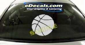 CRT227 Basketball Cartoon Decal