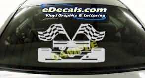CRT228 Race Car Cartoon Decal
