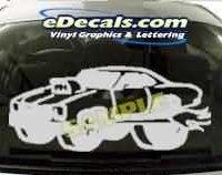 CRT229 Race Car Cartoon Decal