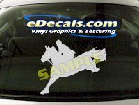 CRT401 Horse Shape Cartoon Decal