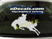 CRT402 Horse Shape Cartoon Decal