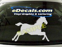 CRT403 Horse Shape Cartoon Decal
