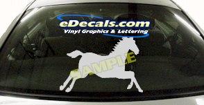 CRT403 Horse Shape Cartoon Decal