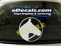 CRT404 Horse Shape Cartoon Decal