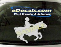 CRT406 Horse Shape Cartoon Decal