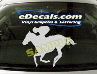 CRT407 Horse Shape Cartoon Decal
