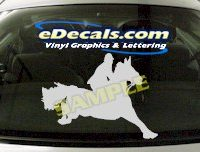 CRT408 Horse Shape Cartoon Decal