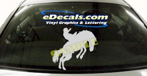 CRT411 Horse Shape Cartoon Decal