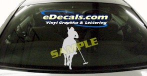 CRT412 Horse Shape Cartoon Decal