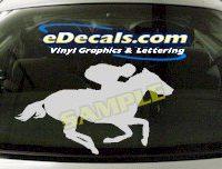 CRT420 Horse Shape Cartoon Decal