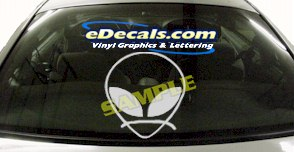 CRT476 Alien Cartoon Decal
