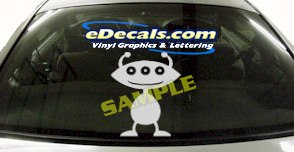CRT485 Alien Cartoon Decal