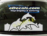 CRT500 Jumping Dolphins Marine Cartoon Decal
