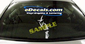 CRT501 Seagull Post Marine Cartoon Decal