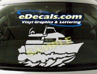 CRT504 Power Boat Marine Cartoon Decal