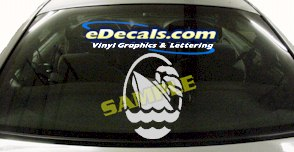 CRT507 Boat Cirlce Marine Cartoon Decal
