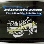 CRT509 Italian City Scape Marine Cartoon Decal